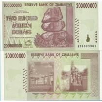 Зимбабве 200.000.000 долларов 2008 год.