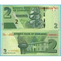 Зимбабве 2 доллара 2016 год