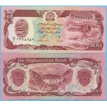 Афганистан 100 афгани 1991 год.