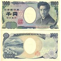 Япония 1000 йен 2004 г.