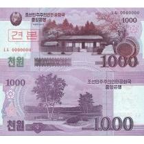 Северная Корея 1000 вон 2008 год. Образец