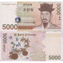 Южная Корея 5000 вон 2006 г.