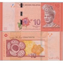 Малайзия 10 ринггит 2012 год.