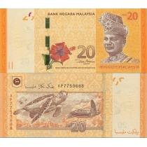 Малайзия 20 ринггит 2012 год.