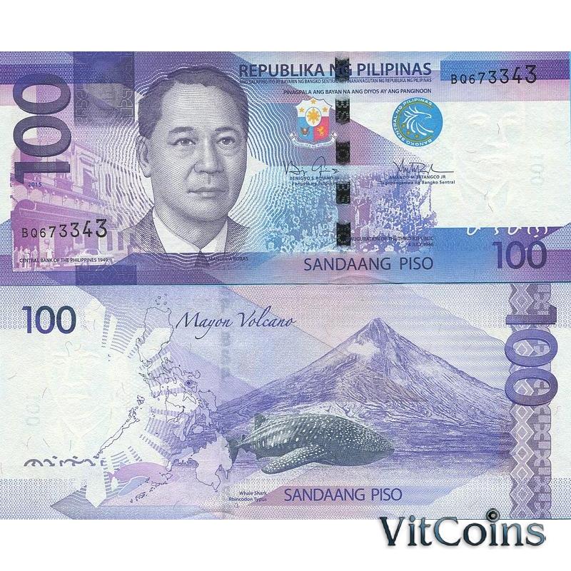 Банкнота Филиппины 100 песо 2015 год.
