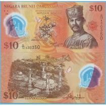 Бруней 10 ринггит 2011 год.
