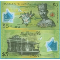 Бруней 5 ринггит 2011 год.
