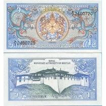 Бутан 1 нгултрум 1986 г.