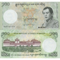 Бутан 100 нгултрум 2011 год.