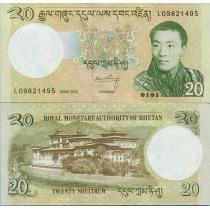 Бутан 20 нгултрум 2013 год.