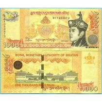 Бутан 1000 нгултрум 2016 год.