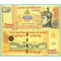 Бутан 1000 нгултрум 2016 год. Юбилейная.