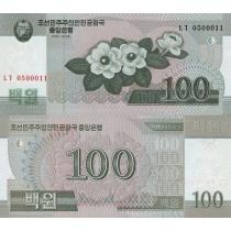 Северная Корея 100 вон 2008г.
