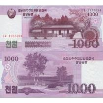 Северная Корея 1000 вон 2008г.
