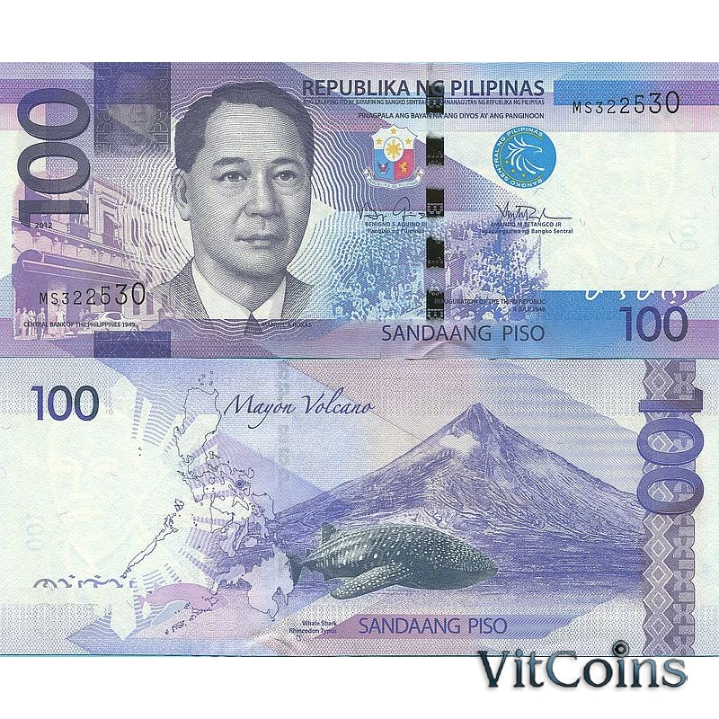 Банкноты Филиппины 100 песо 2012 г.