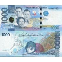 Филиппины 1000 песо 2015 год.