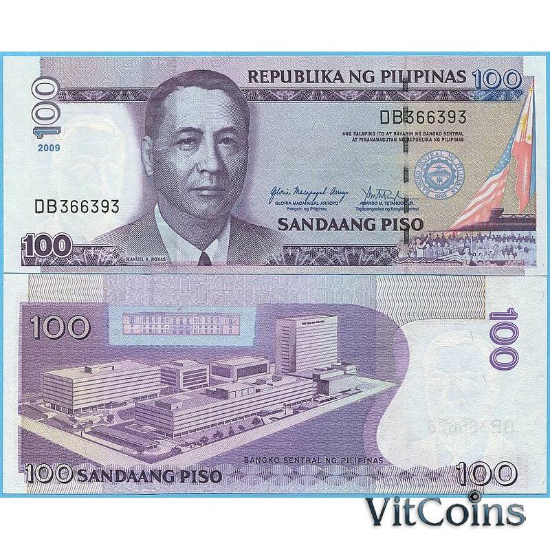 Банкнота Филиппины 100 песо 2009 год.