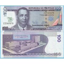 Филиппины 100 песо 2012 год. 100 лет отелю Манила.