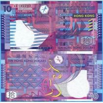 Гонконг 10 долларов 2002 год.