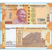 Индия 200 рупий 2018 год.