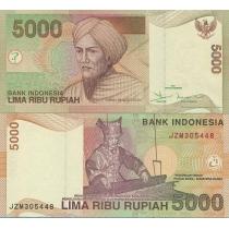 Индонезия 5000 рупий 2001 год.