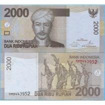 Индонезия 2000 рупий 2015 год.