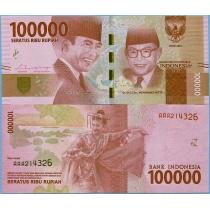 Индонезия 100.000 рупий 2016 год.