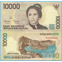 Индонезия 10.000 рупий 1999 год.
