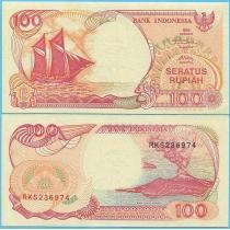 Индонезия 100 рупий 1999 год.