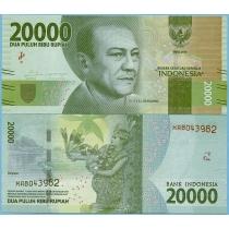Индонезия 20.000 рупий 2016 год.