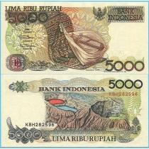 Индонезия 5000 рупий 1998 год.