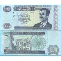 Ирак 100 динар 2002 год. Саддам Хусейн.