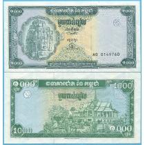 Камбоджа 1000 риелей 1995 год.