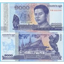 Камбоджа 1000 риелей 2016 год.