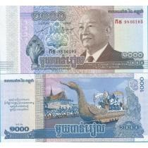 Камбоджа 1000 риелей 2013 год.