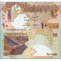 Катар 10 риалов 2017 год.