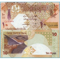 Катар 10 риал 2008 год.