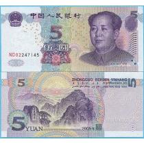 Китай 5 юаней 2005 год.