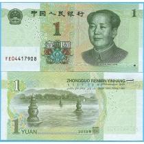 Китай 1 юань 2019 год.