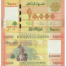 Ливан 10000 ливров 2012 г.