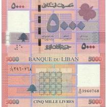 Ливан 5000 ливров 2012 г.