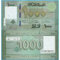 Ливан 1000 ливров 2016 год.