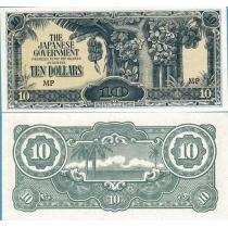 Малайя 10 долларов 1942 г.