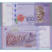 Малайзия 100 ринггит 2012 год.