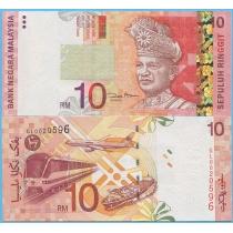 Малайзия 10 ринггит 2004 год.