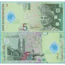 Малайзия 5 ринггит 2004 год.