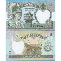 Непал 2 рупии 2000 год.