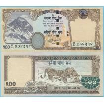 Непал 500 рупий 2009 год.