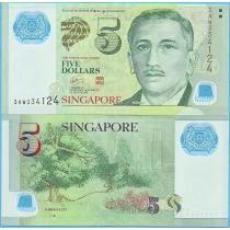 Сингапур 5 долларов 2010 год.
