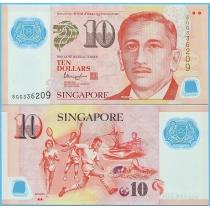 Сингапур 10 долларов 2016 год.